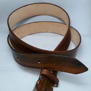 cintura cuoio dipinta a mano