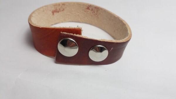 Bracciale cuoio rosso