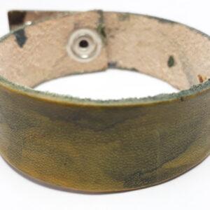 braccialetto cuoio verde